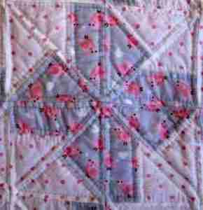 Soft Pink Song Birds handmade baby quilts for girls