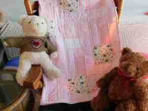Pink Handmade Baby Quilts for Girls